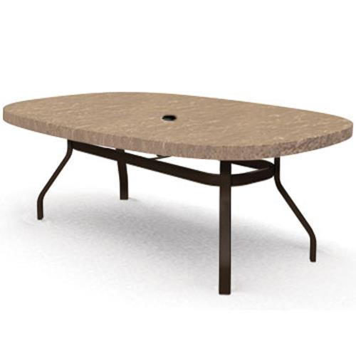 """Sandstone 47""""x 67"""" Ellipse Balcony Table by Homecrest at VanDrie Home Furnishings"""