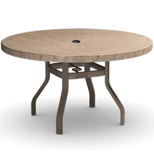 """Slate 42"""" Dining Table with Umbrella Hole  by Homecrest at VanDrie Home Furnishings"""