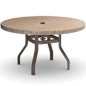 "Homecrest Slate 42"" Dining Table with Umbrella Hole"