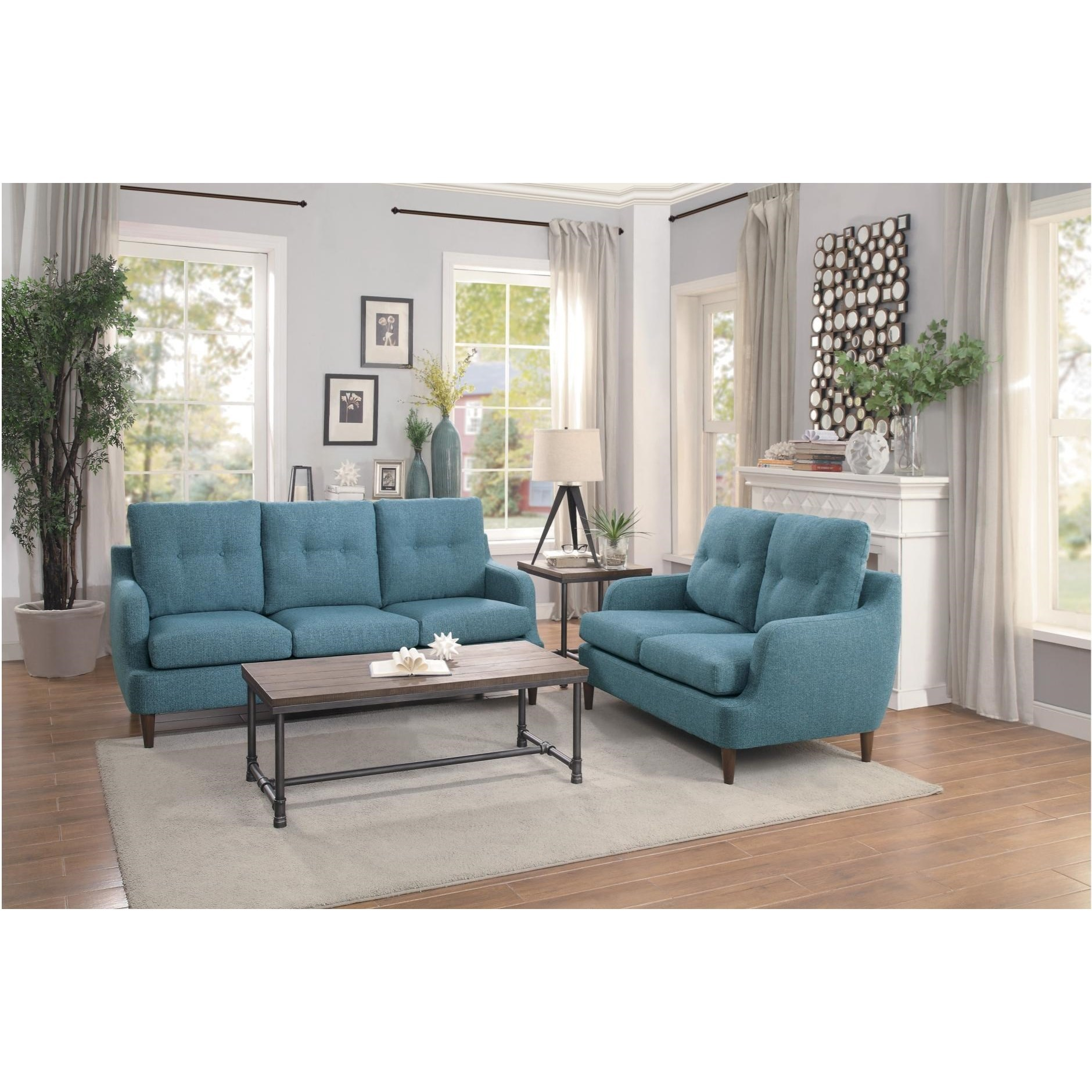 Cagle Stationary Living Room Group by Homelegance at Rooms for Less