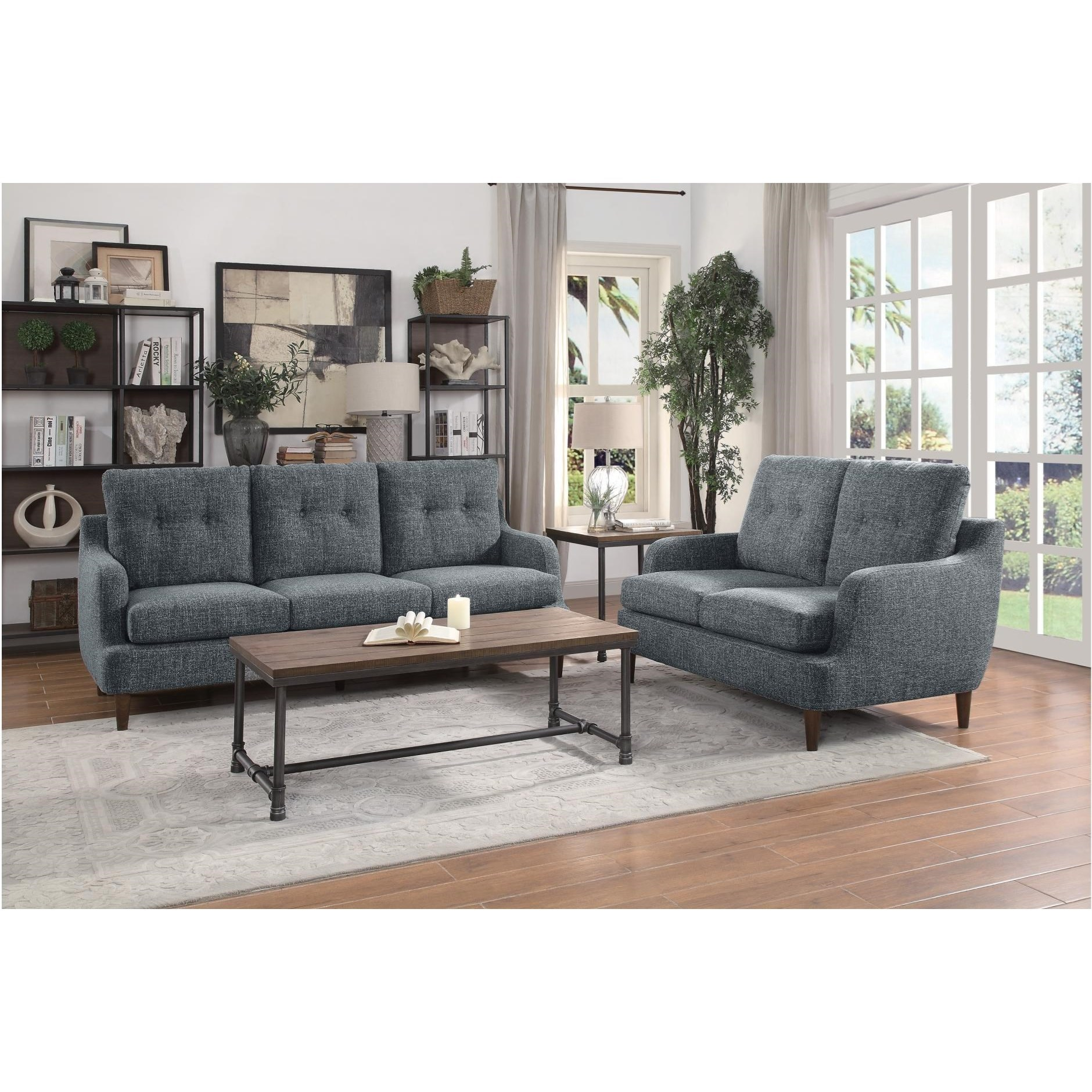 Cagle Stationary Living Room Group by Homelegance at Carolina Direct