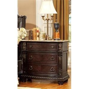 Night Stand W/Marble Top Palace