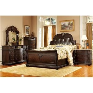 King Sleigh Eastern Leather Bed