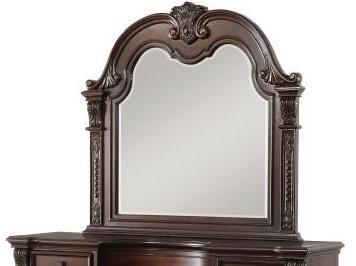 1757 Cavalier Cherry Mirror by Homelegance at Furniture Fair - North Carolina