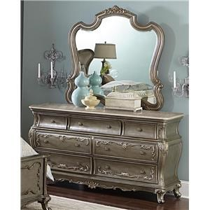 Florentina French Provincial Glass Mirror & Dresser