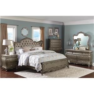 Florentina French Provincial Wing Back Queen Bed