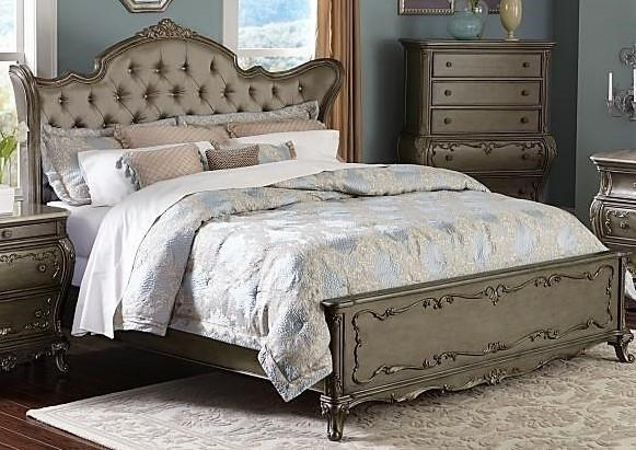 Florentina French Provincial Wing Back King Bed