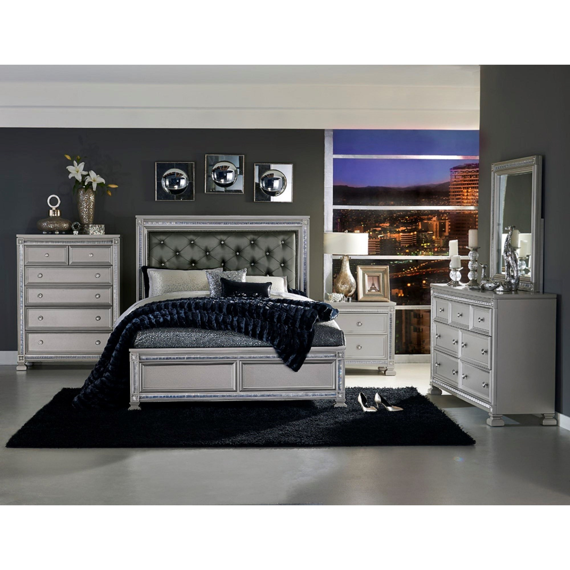 1958 Queen Bedroom Group by Homelegance at Carolina Direct