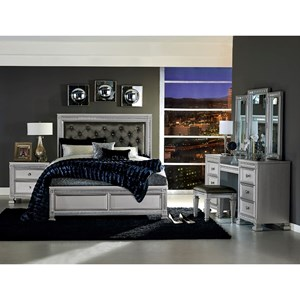 Homelegance 1958 Queen Bedroom Group with Vanity