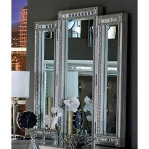 Glam Vanity Mirror with Intricate Inlay