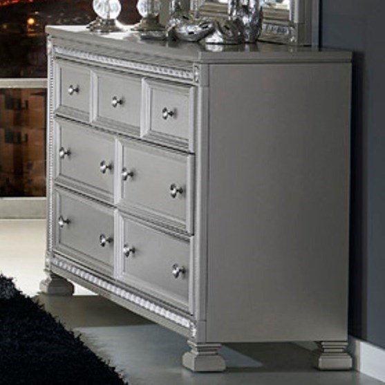 1958 Glam 7 Drawer Dresser by Homelegance at Lindy's Furniture Company