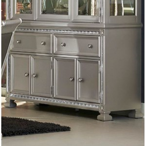 Glam Dining Buffet with 4 Doors and 2 Drawers