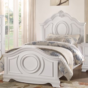Homelegance 2039W Traditional Twin Bed