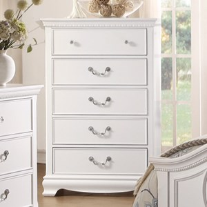 Homelegance 2039W Traditional Chest of Drawers