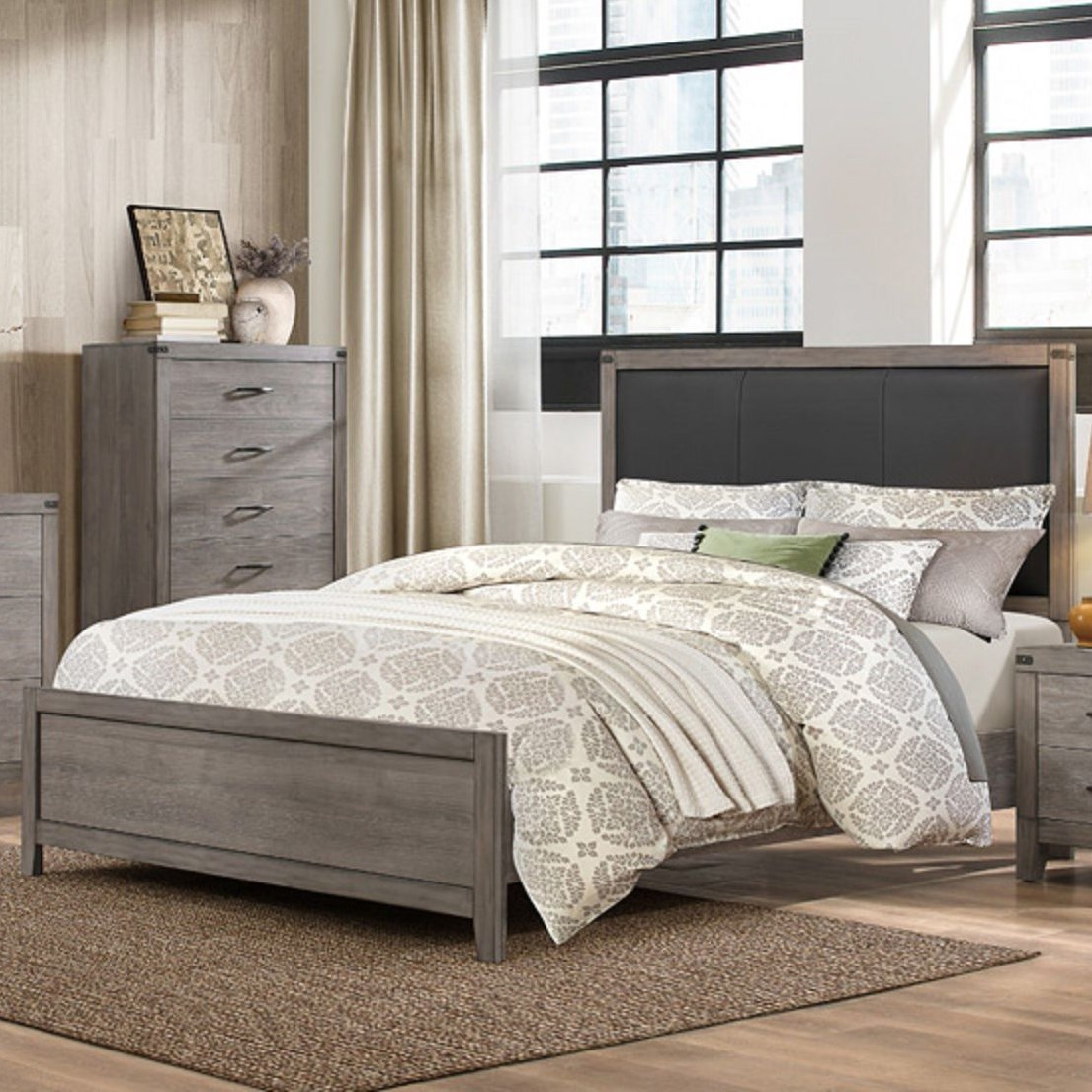 2042 Contemporary Queen Bed by Homelegance at Lindy's Furniture Company