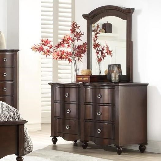 2058C Dresser and Mirror Set by Homelegance at Lindy's Furniture Company