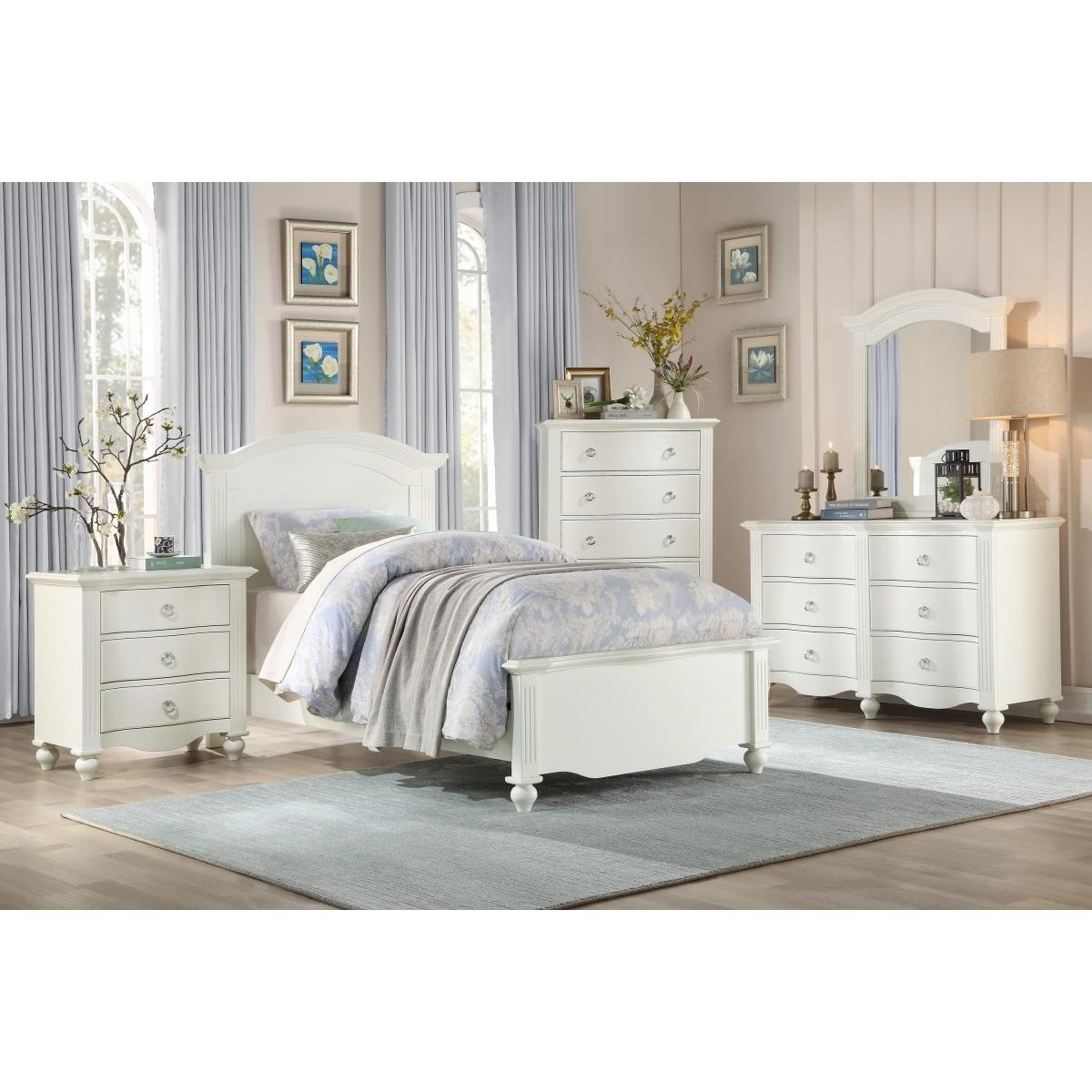 2058WH Twin Bedroom Group  by Homelegance at Value City Furniture