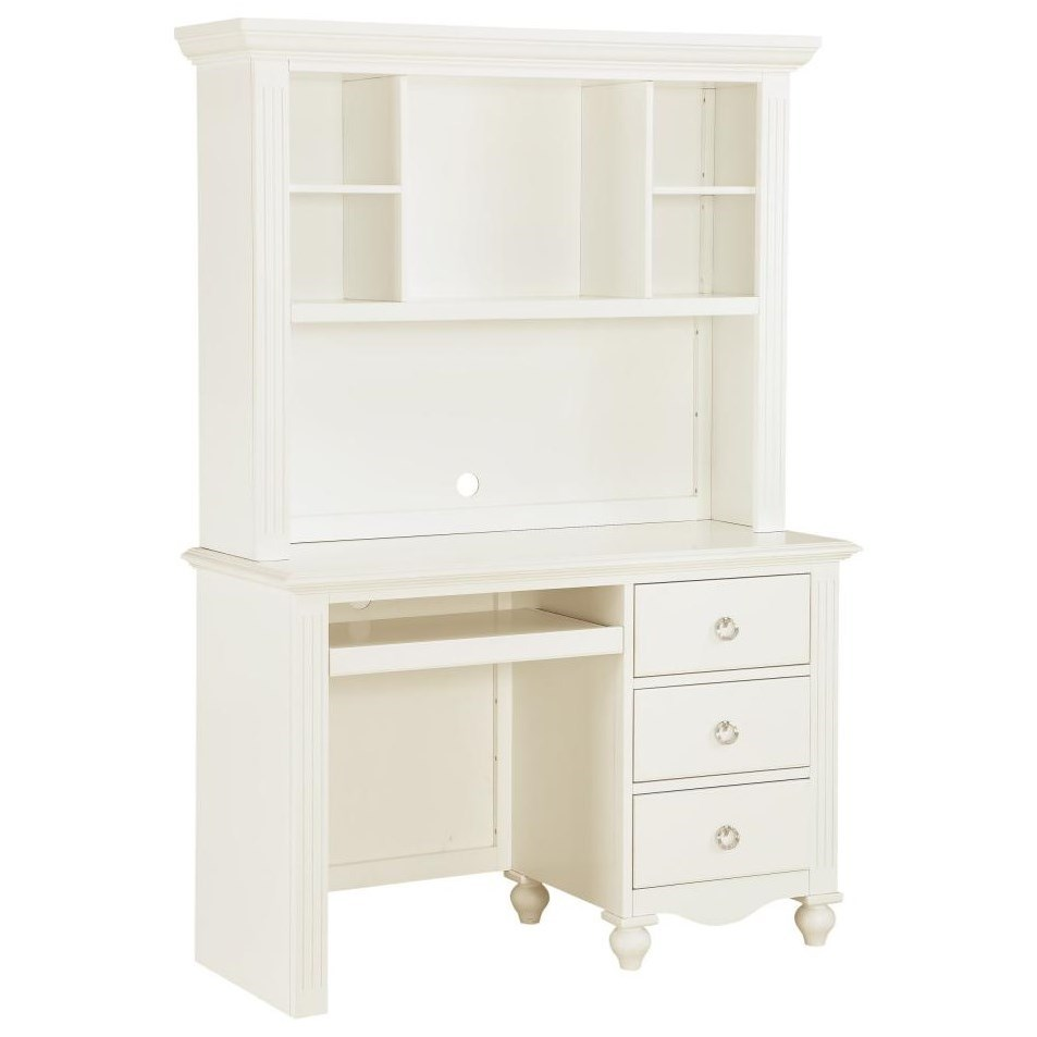2058WH Writing Desk and Hutch by Homelegance at Nassau Furniture and Mattress