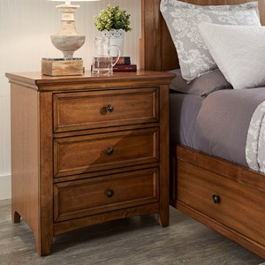 Three Door Night Stand with USB Ports