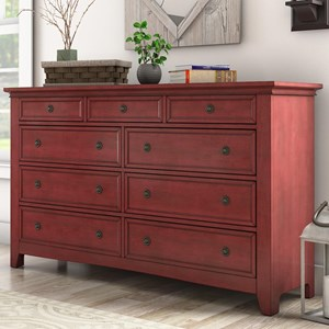 Casual Nine Drawer Dresser