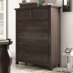 Casual Five Drawer Chest