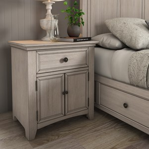 Cupboard Night Stand with USB Ports