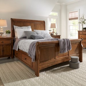Casual Queen Sleigh Bed with Storage