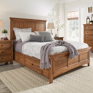 Casual Queen Panel Bed with Storage