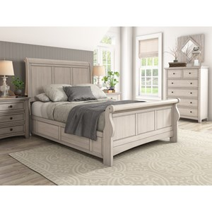 Casual Queen Sleigh Bed
