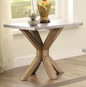 End Table with Zinc Top