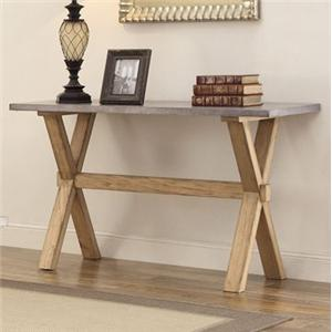 Sofa Table with Zinc Top