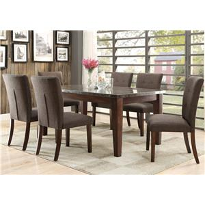 Homelegance Dorritt 7 Piece Dining Set