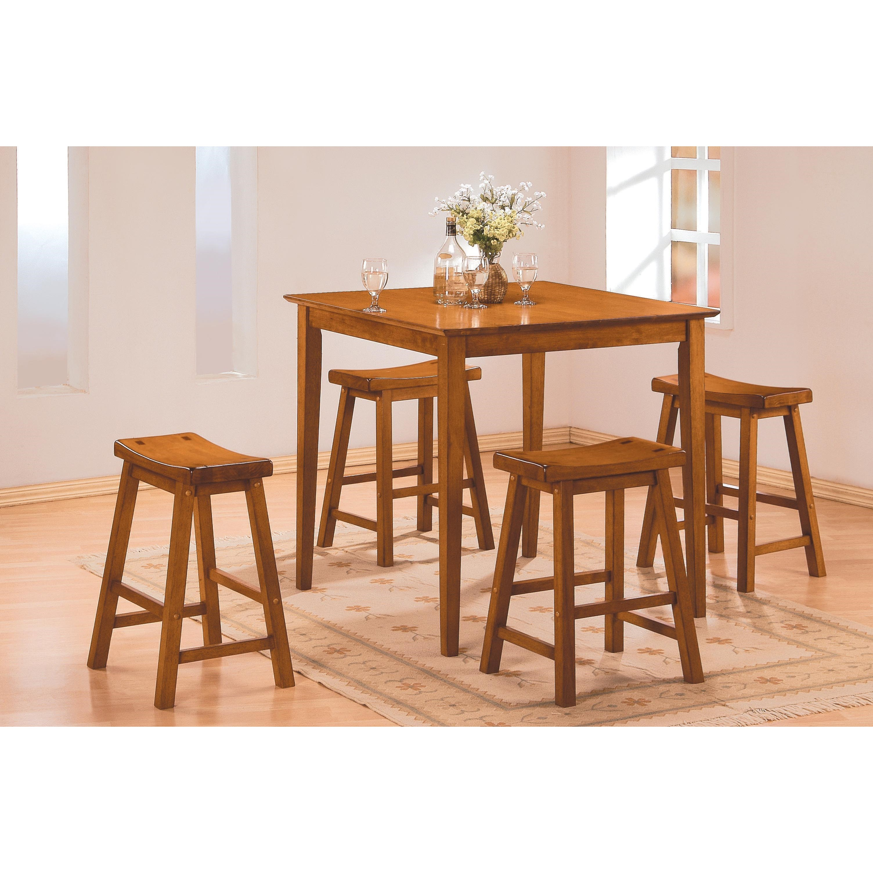 5302 5Pc Counter Height Dinette Set by Homelegance at Carolina Direct