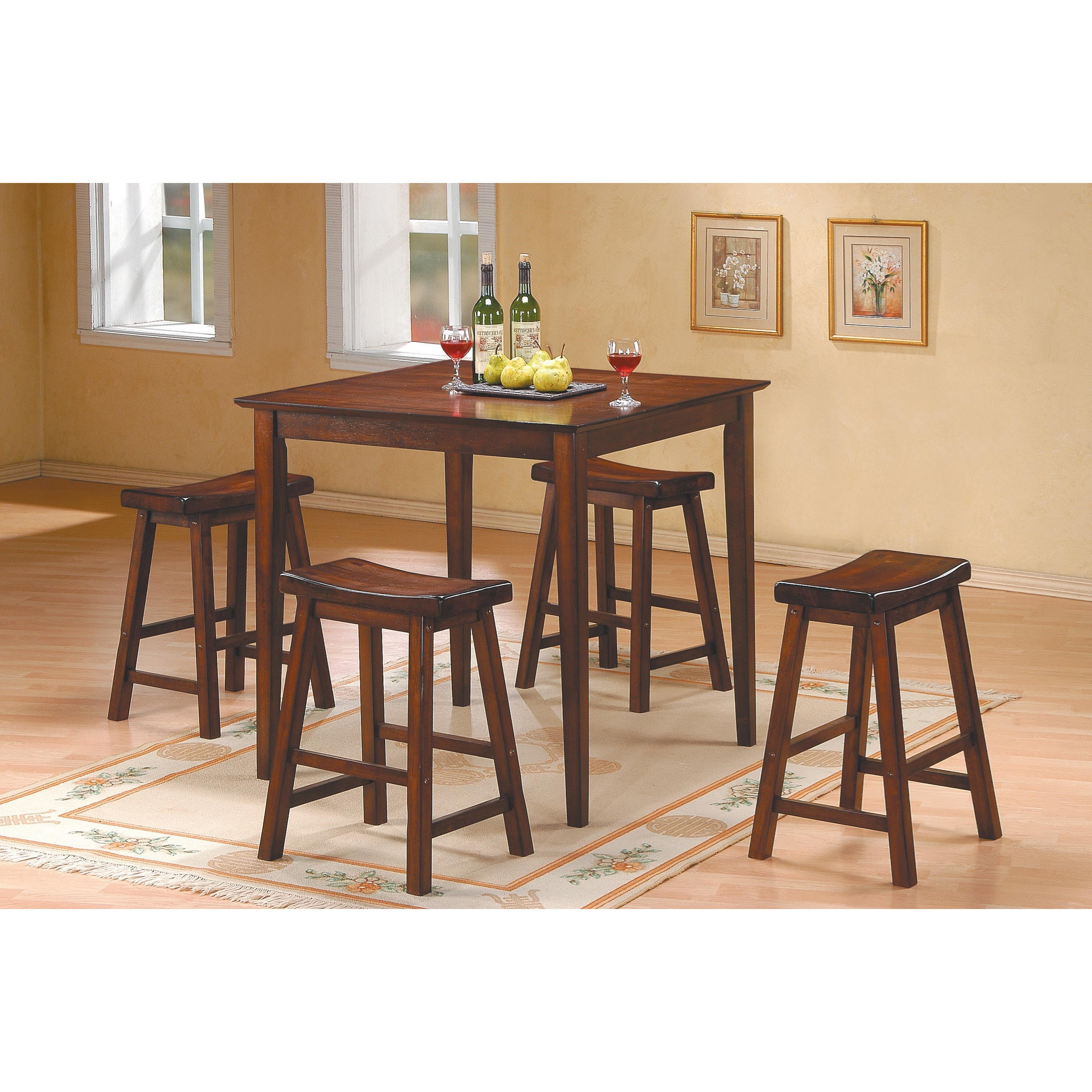 5302 5Pc Counter Height Dinette Set by Homelegance at Rife's Home Furniture