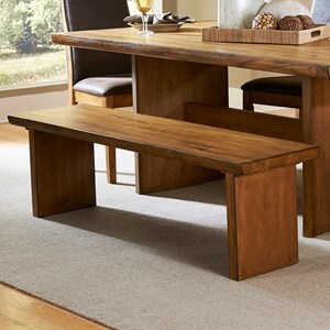 Contemporary Wood Dining Bench