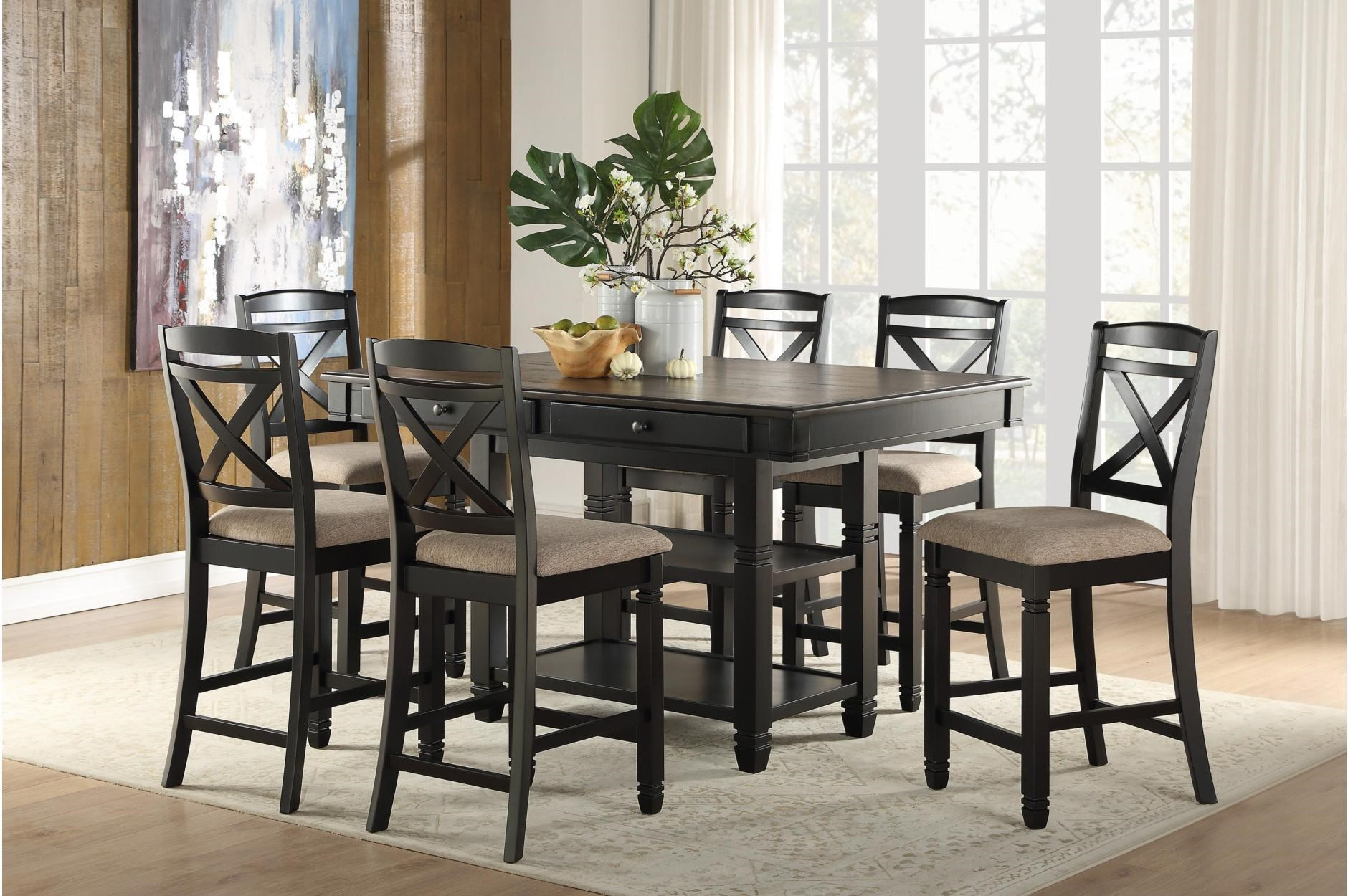 Baywater 7-Piece Dining Set by Homelegance at Dream Home Interiors
