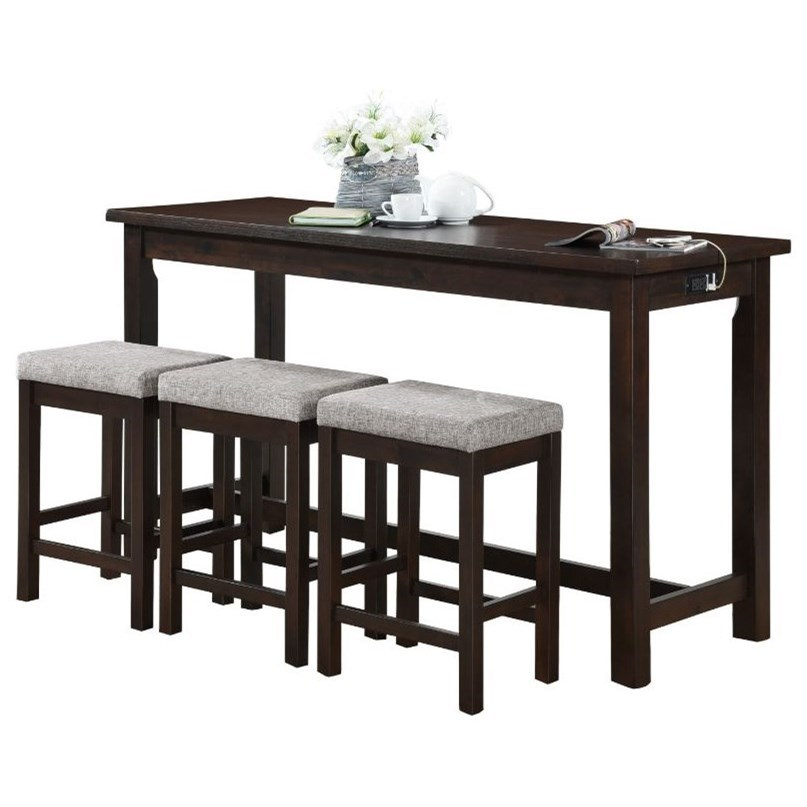 Connected Collection 4-Piece Pack Counter Height Set by Homelegance at Beck's Furniture