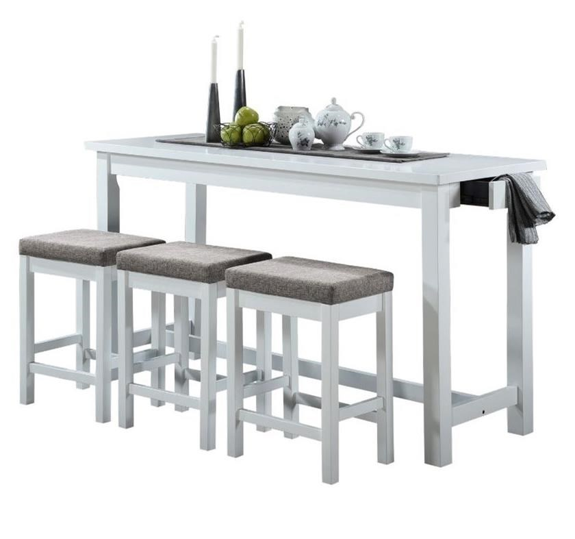Connected Collection 4-Piece Pack Counter Height Set by Homelegance at Rife's Home Furniture