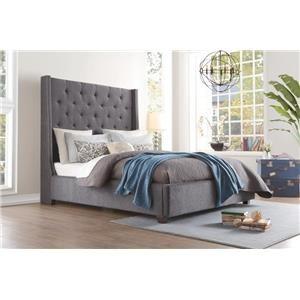 Queen Storage Bed w/ Nailhead Trim