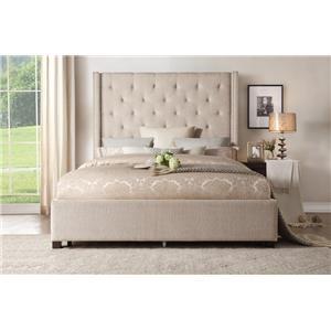 King Storage Bed w/ Nailhead Trim