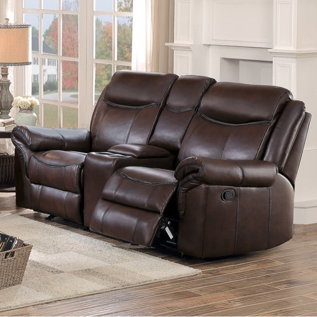 8206 Reclining Loveseat by Homelegance at Value City Furniture