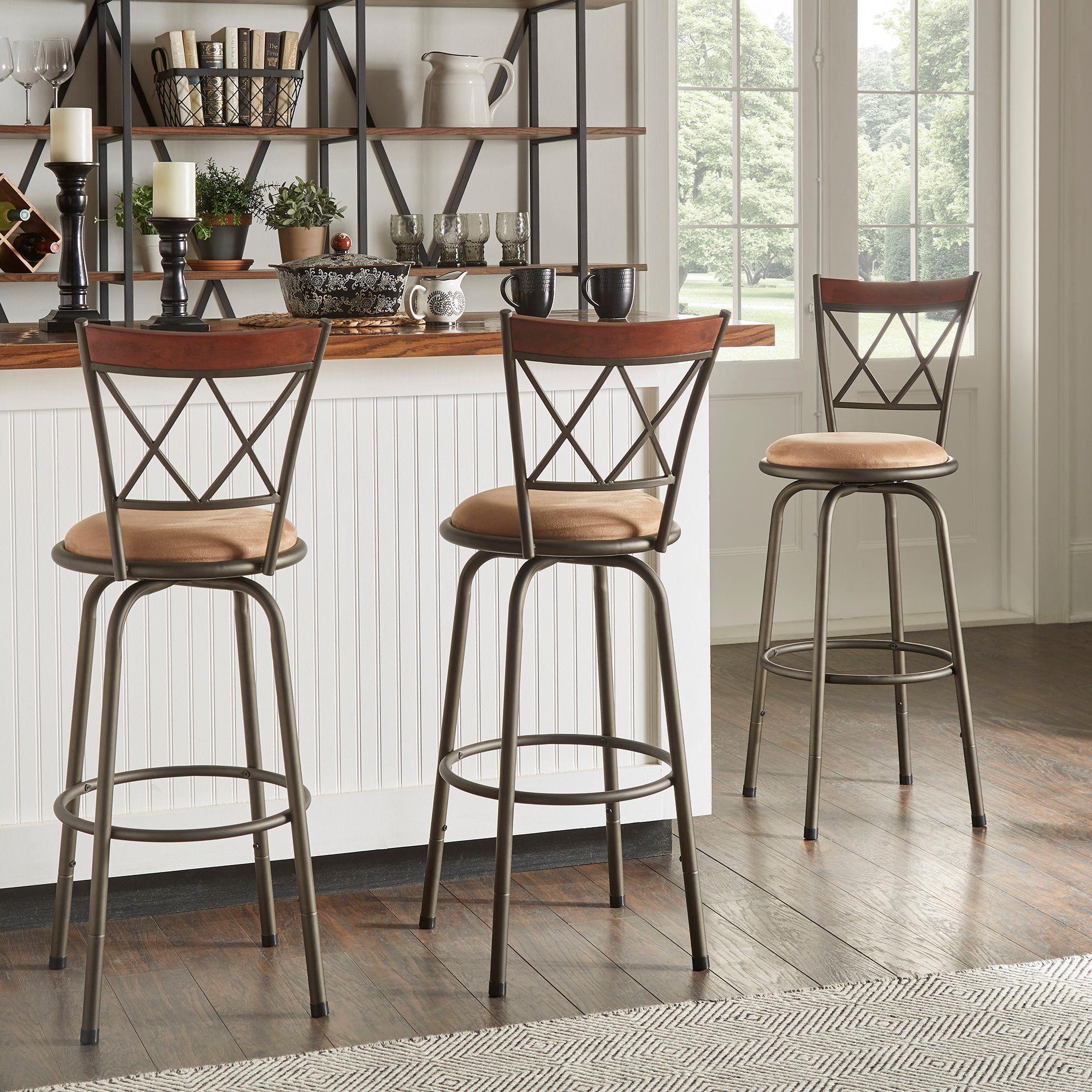 855 Set of 3 Adjustable Height Stools by Homelegance at Darvin Furniture