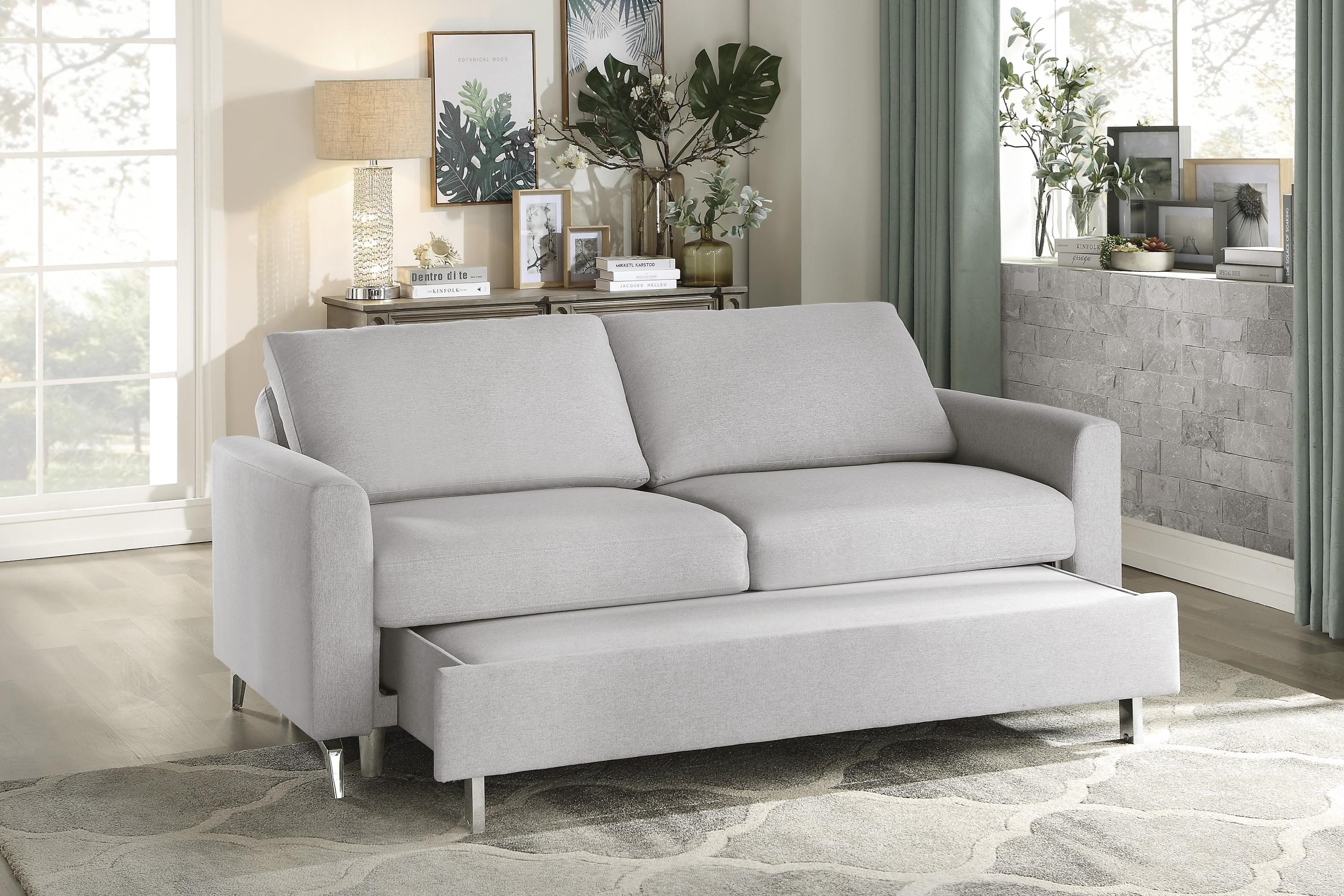 9525GRY Convertible Sleeper Sofa by Homelegance at Beck's Furniture