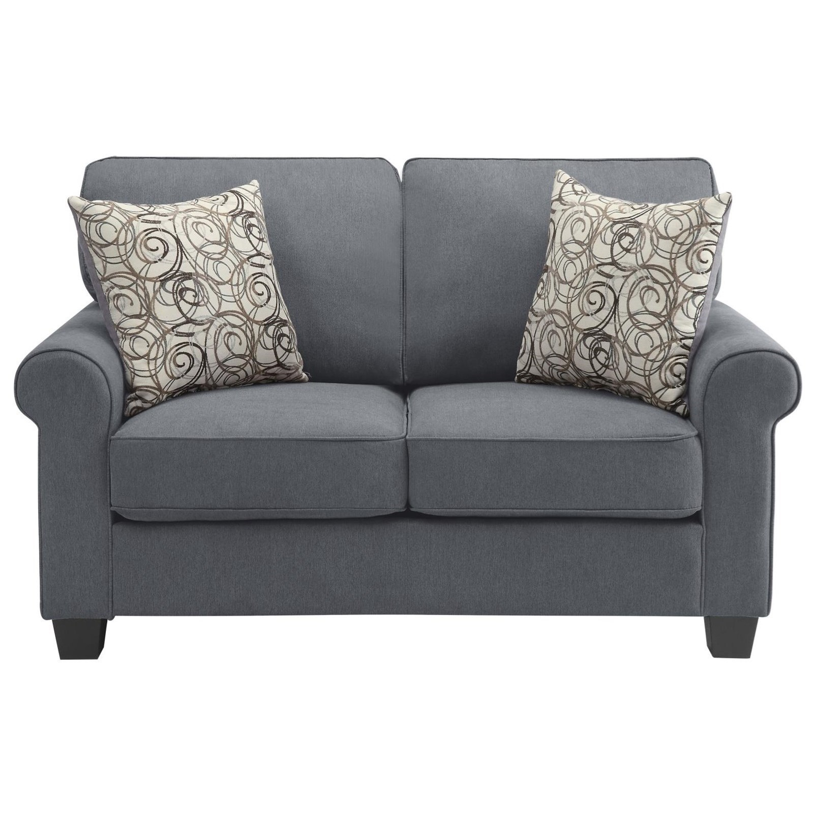 Selkirk Love Seat by Homelegance Furniture at Del Sol Furniture