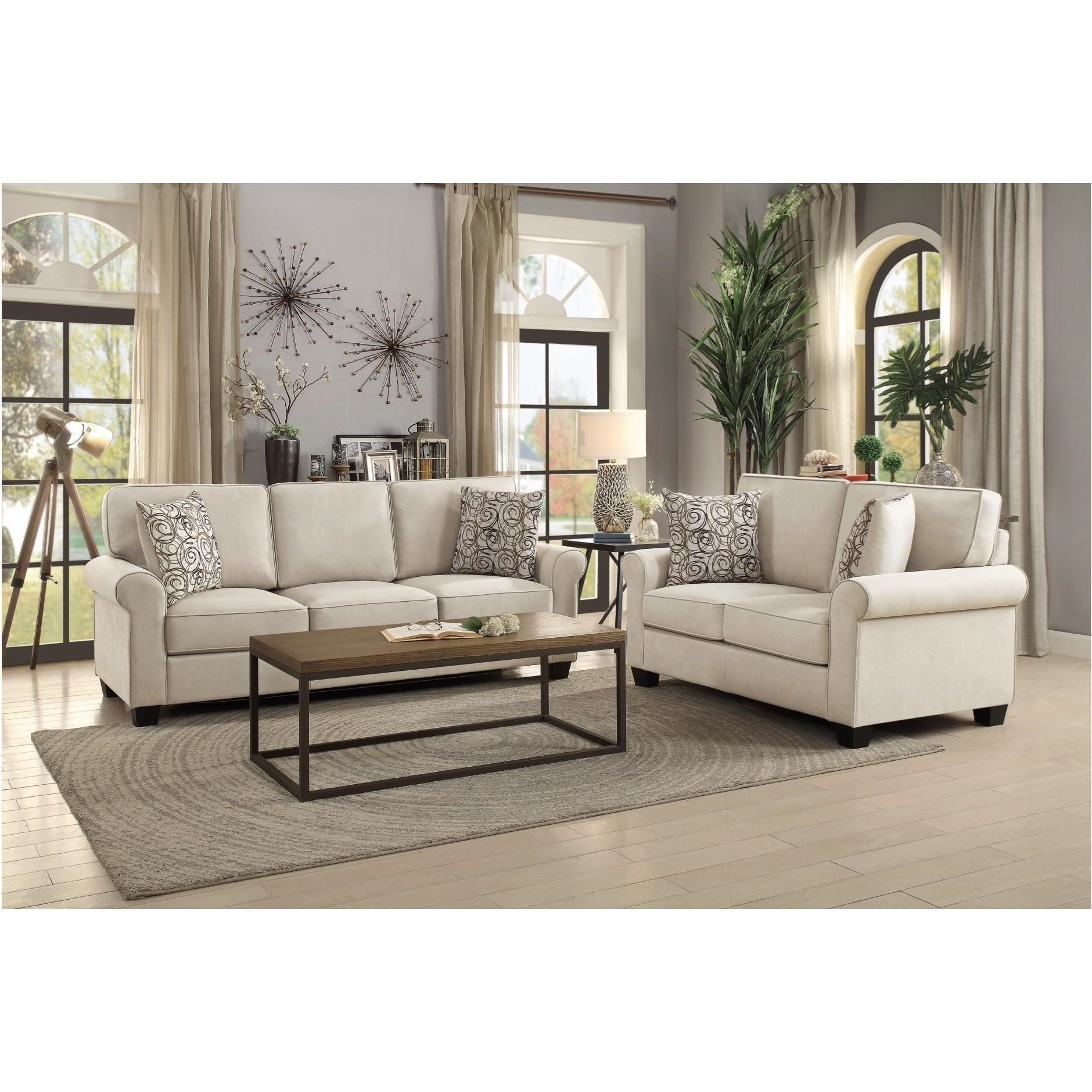 Selkirk Living Room Group by Homelegance at Carolina Direct