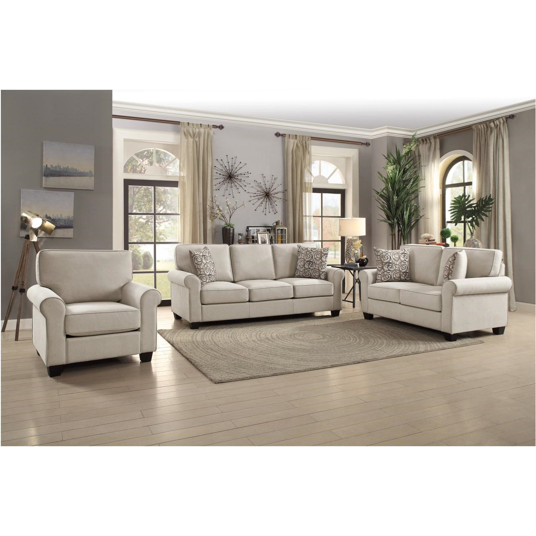 Selkirk Living Room Group by Homelegance at Corner Furniture