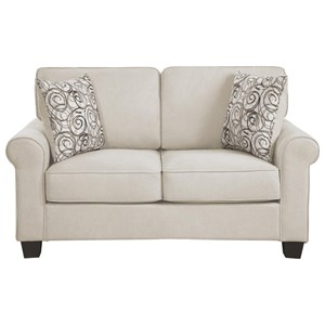 Transitional Love Seat with Removable Seat and Back Cushions