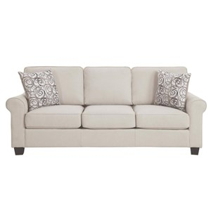 Transitional Sofa with Removable Seat and Back Cushions