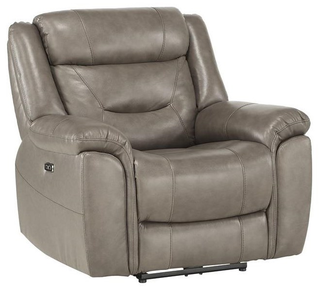 Albany Leather Power Recliner w/ Power Headrest  by Home Style at Walker's Furniture