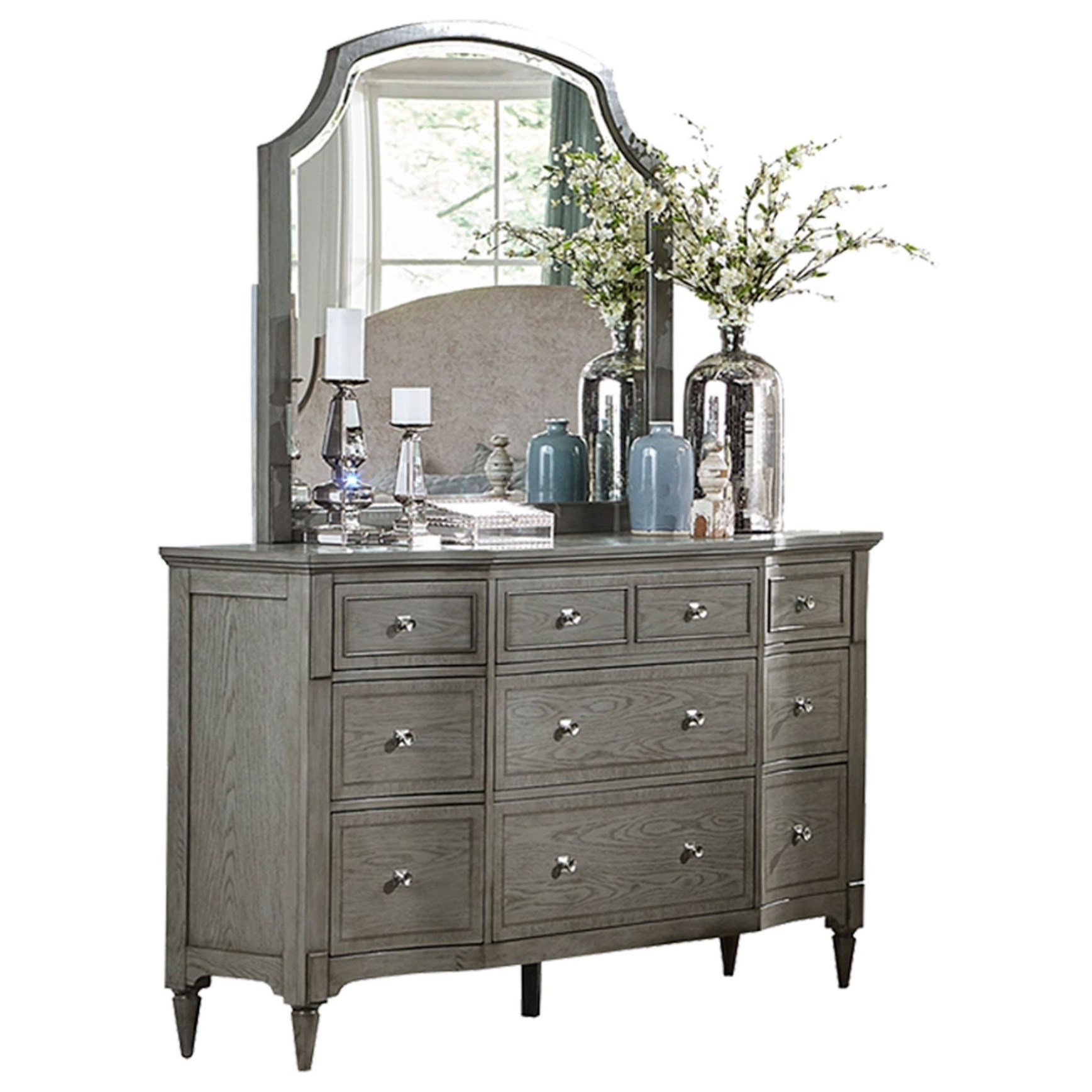 Albright Dresser and Mirror Set by Homelegance at Carolina Direct